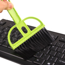 New Sale Plastic Desk Cleaner Set Dust Pan Broom Brush Keyboard Computer Cleaning Set(China)