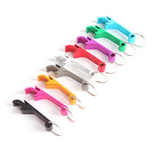 New Design Mini Pocket Key Chain Beer Bottle Opener Claw Bar Small Beverage Keychain Ring Random Color