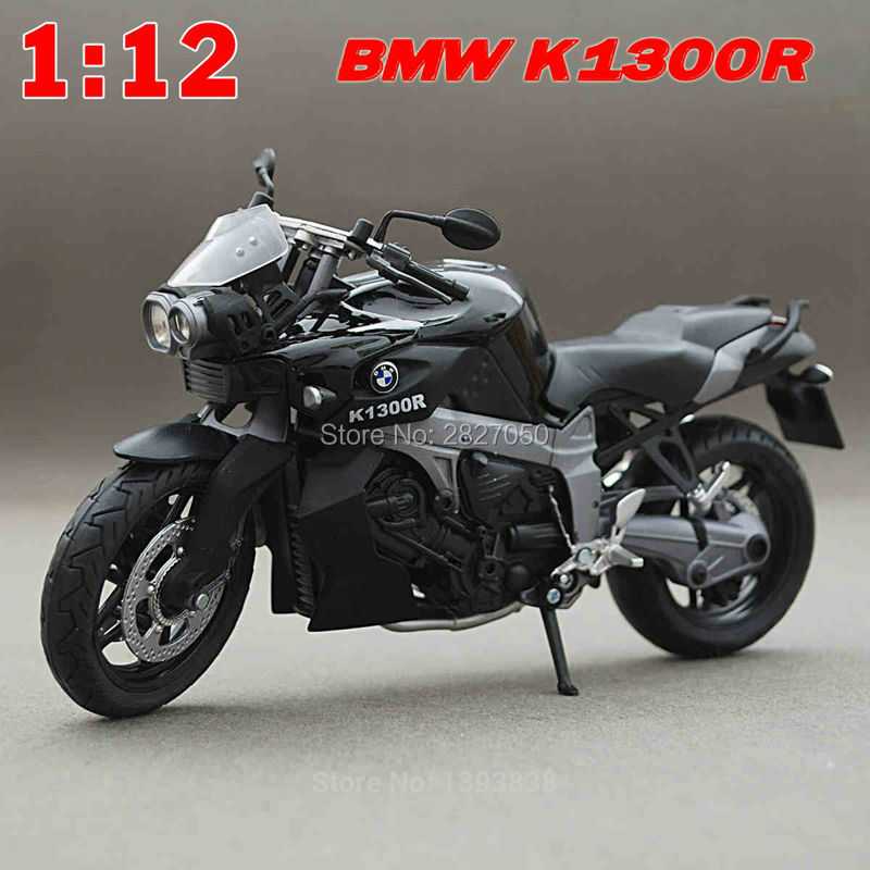 Scale 1:12 K1300R Metal Diecast Models Motorcycle Toy Motobike Collection Display Model As Gift For Boy Kids(China)