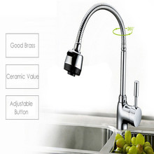 Fashion Modern Style Pull-out Mixer High Bathroom Faucet Contemporary Chrome Solid Brass Spring Kitchen Mixer Faucet