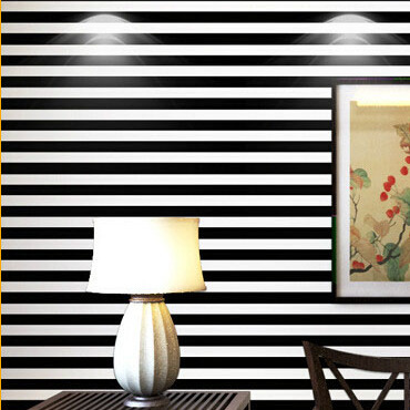 papel de parede. 10M volume black and white wide stripes vertical stripes wallpaper 3d wallpaper simple decoration, wall paper<br><br>Aliexpress