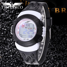 Hot Sale LED Digital Pupil Watches Children Dress Saats Fashion Sport Rejores Male Baby Clocks Enfant Ceasuri Pink Girls Hodinky