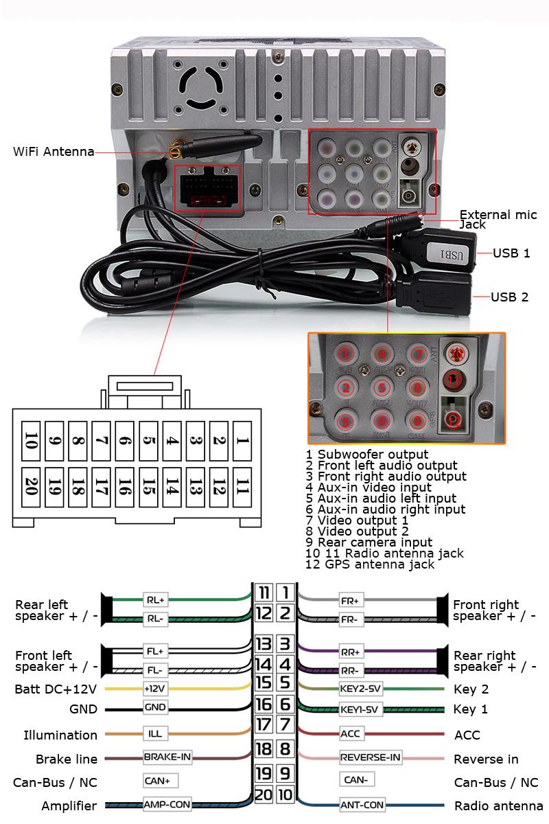 Universal 7Inch Car Stereo GPS