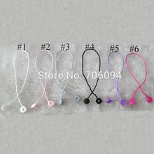 Hang tag plastic string Sling/seal tag stringing,Swing tag string seal,hangtag sling cord with buckle,1000pcs/lot