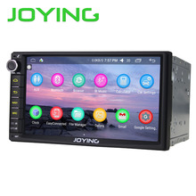 "JOYING 2017 Fashion 7"" Double 2 Din Android 6.0 Universal Car Auto Radio Steering wheel Quad Core HD media player Audio System"