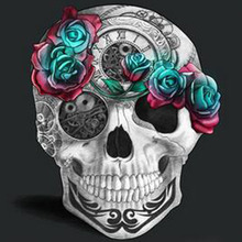 Diy Diamond Painting Diamond Skull Head Rose 5D Cross Stitch Crystal Square Dill Full Diy Diamond Embroidery Resin Home Decorati