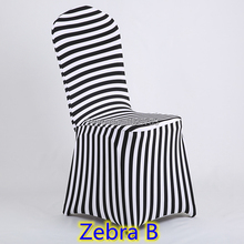 chair covers for plastic chairs zebra print top quality  lycra spandex stretch banquet chair cover for wedding decoration