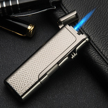 Hones tly the real thing wind proof lighter torch jet flame the metal anti-wind ultra-thin  premium gift inflates the lighters
