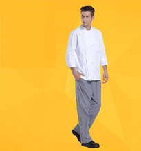 pantalones para chef brand high quality houndstooth chef pants for man and woman baggy le chef trousers uniforms free shipping(China)