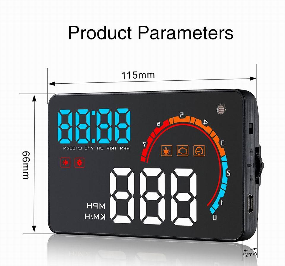 HTB1tzWWhMmTBuNjy1Xbq6yMrVXaC - Car Head Up Display Projector Shows Speed Warning Fuel Consumption