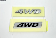 100 Pieces DHL ABS 4WD Car Tail Styling Stickers Emblems Decorations for Elantra Sonata Tucson Santa Accent IX35 Accessory