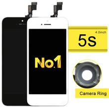 NO.1 Alibaba china highscreen for Phone 5S LCD Dispaly screen Digitizer Assembly with Glass Replacement +Camera holder