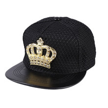 Women Men's Popular Global Snapback Hats Bling Rhinestone Crown Mesh Covered Adjustable Hip Hop Baseball Cap Black Navy Red(China)