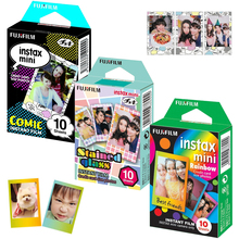 For Fujifilm Instax Mini 8 9 25 50s Film Instant Photo Camera, 30 Sheets Fuji Papers Rainbow, Comic ,Stained Glass Frame Picture