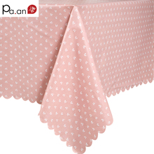 Pastoral Style PVC Table Cloth Plaid Flowers Printed Waterproof Oilproof Rectangle Table Cover Home Party Wedding Tablecloth(China)