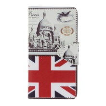 for Wiko Lenny 3 Case Cover Pattern Printing Cross Texture Wallet Leather Stand Case for Wiko Lenny 3 Phone Capas Hoesje UK Flag