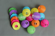 Party Decorations24pcs 7.5cm (3inches) Chinese round small silk lantern Wedding lantern Brithday decoration(China)