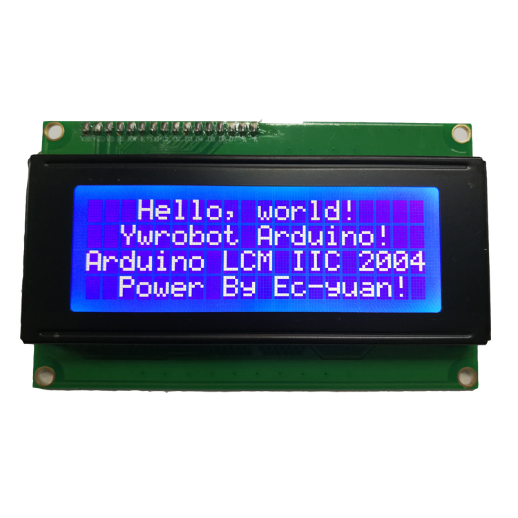 Circuit Board Liquid Crystal Display IIC/I2C/TWI 2004 204 20X4 Character LCD Module Display For Arduino Blue Serial 60mm X 99mm(China)