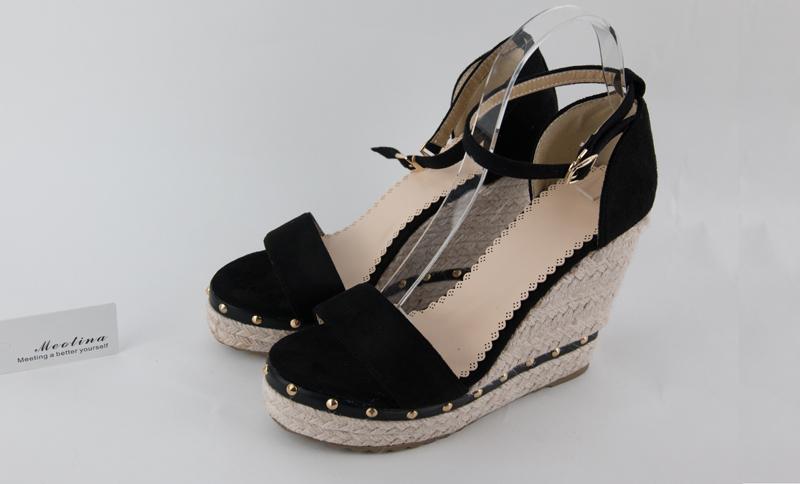 Women's Sandals, Platform Sandals, High Heels Shoes, Ankle Strap, Ladies Sandals Rivet Casual Footwear 16