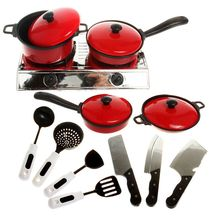 11 Pcs/Set Hot Sale Funny Children Mini Kitchen Cooking Toys Cookware Cook Pans Pots Dishes Play Toys Baby Kitchen Traning Tools