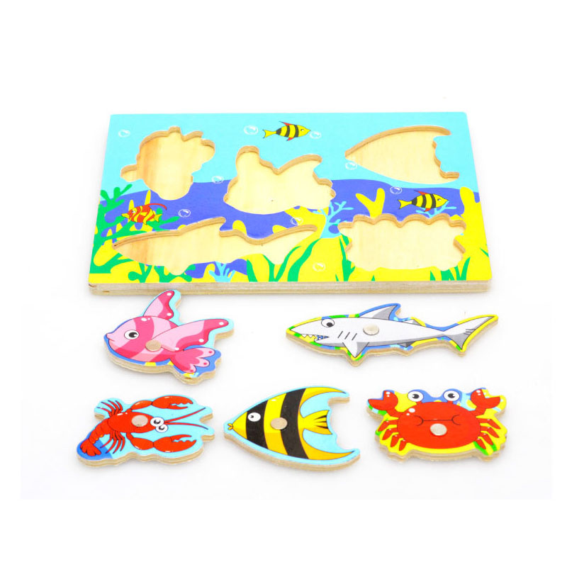 Kid Wooden Magnetic Fishing Game Puzzle 3