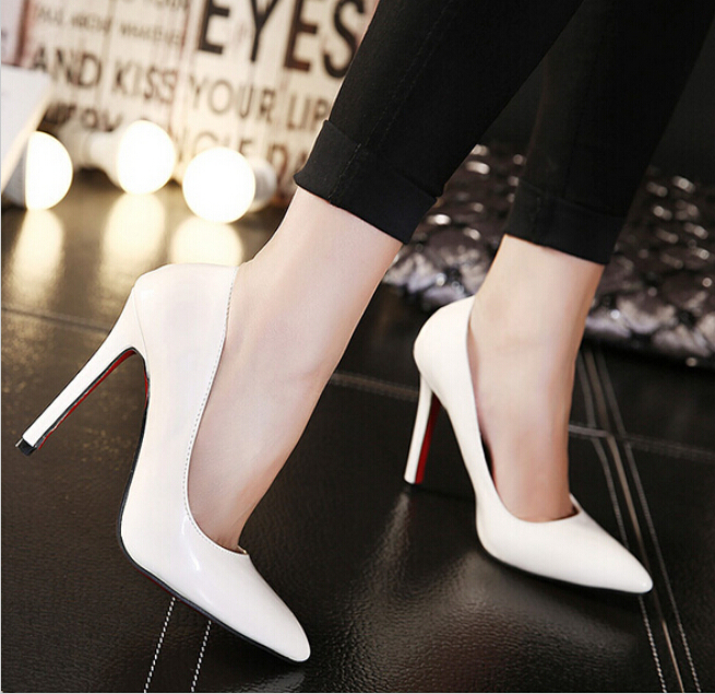 Classic women shoes red sole High heel Ladys sexy stiletto valentine High heels Party shoes woman pumps Size 35-41<br><br>Aliexpress