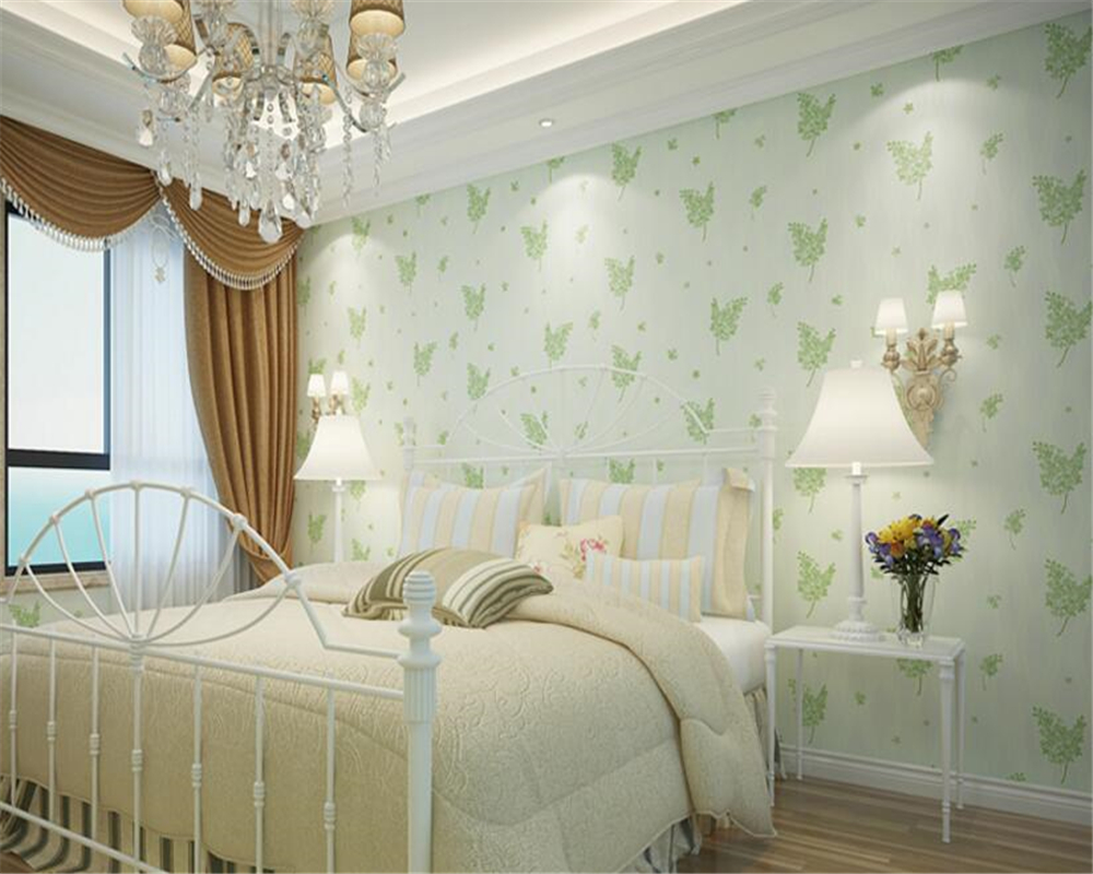 beibehang Rural Micro Flocking non-woven 3d wallpaper bedroom aisle restaurant background wall wallpaper papel de parede tapety <br>
