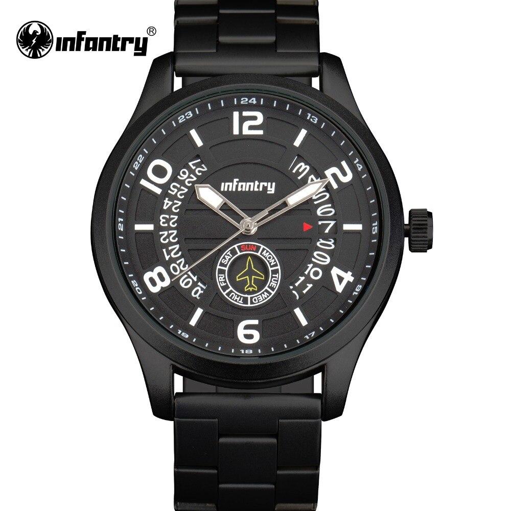 INFANTRY Watch Men Fashion Sport Quartz Watch Top Brand Luxury Full Steel Army Military Waterproof Male Clock Relogio Masculino<br>