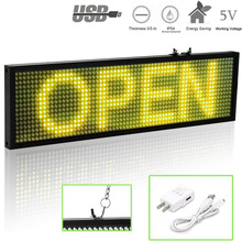34cm P5 SMD Wifi Scrolling LED Sign Message Board for Business, Mobile phone Programmable Scrolling Message Advertising Display(China)