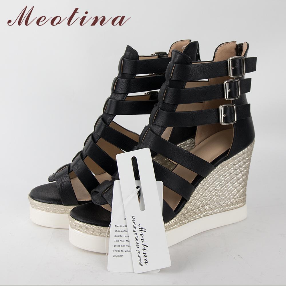 Gladiator Shoes, Women's Platform Wedges, High Heel Sandals, Rome Ladies Wedge Heels 20