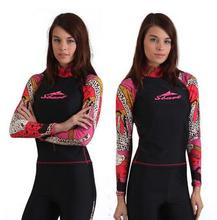 2014 SBART female surf wear thin tight conservative long sleeved beach snorkeling diving suit female coat