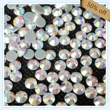China post air mail FREE SHIPPING size ss16 4mm  CRYSTAL AB color with 1440 pcs each pack ; diamond stone for leotards