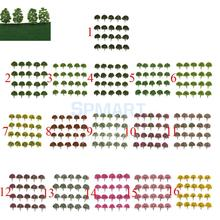 Pack of 20pcs Plastic Model Tree for Train Railway Layout Scenery Building DIY 1:75 HO OO Scale