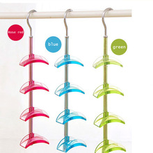 Hot Sale Casual Multicolor Full Angle Rotation Creative Useful Druable 4 Tie Hook Hanging Bag Organizador Hangers Rails Rack T10(China)