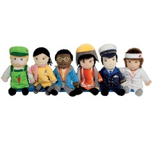 baby educational toy montessori learning tool occupations interactive doll toy with gardener teacher doctor fireman captain(China)