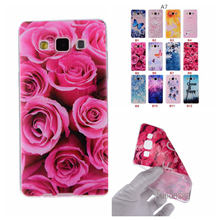Cartoon Flower Butterfly Tree Painted Back Cover Silicon Gel Soft TPU Mobile Phone Case For Samsung Galaxy A7 coque A700 A700F .