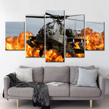 HD ArtDrop Shipping Canvas Art Helicopters Wall Pictures for Living Room Vintage Modular Paintings On The Wall Art Cuadros Decor(China)
