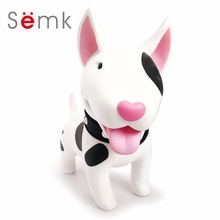 Semk PVC Vinyl Doll Action Figure Dog Husky Dog Funny Toys Money Box for Kits With Paper Box Head Rotated 360(China)