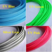 "4MM 5/32"" Tight Braided PET Expandable Sleeving Cable Wire Sheath Free Shipping - 5 Meters(China)"