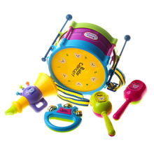 Creative 5 Pcs of Drums Combination Toys Children Instruments Educational Toys Novelty Baby Gags & Practical Jokes Toys oyuncak(China)