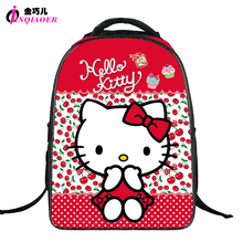 Kawaii HELLO KITTY Backpack For Teenager Girls High Quality Nylon Backpack Children Student School Bag Cartoon Animal Backpack