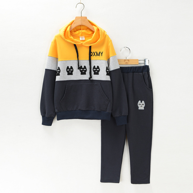 boys clothes Autumn children 2016 new boys tracksuit cotton two piece clothing kids clothes suit 4 6 7 9 10 11 12 14 15 16 years<br>
