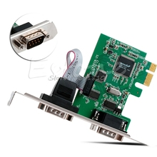 PCI-E PCI to Dual Serial DB9 RS232 Serial Controller Adapter Card Express 2-Port -R179 Drop Shipping