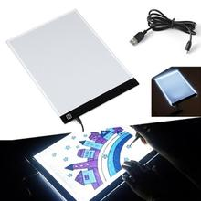 4 Plug For A4 LED Light Stencil Art Copy Painting Drawing Pad Board Table Tattoo Pad Adapter USB Cable Dimable  EU/UK/AU/US Plug