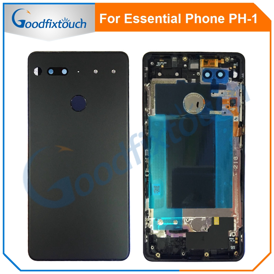 For Essential Phone Ph-1 PH 1 Rear Back Battery Cover Door Ceramics Glass Housing With Fingerprint Camera Glass Raplacement Part (7)
