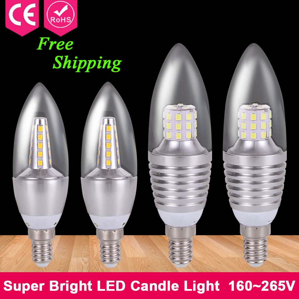 1pcs Home Lighting E14 Led 220V 240V 3W 5W 7W 9W Energy Saving Lamp Led Candle Light Chandelier Lights Epistar SMD 2835 Led Bulb<br><br>Aliexpress