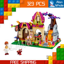 323pcs 2016 New Bela 10412 Azari and The Magical Bakery Model Building Blocks Girls Fairy Emily Jones Compatible With Lego Elves