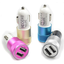 Effelon Car-charger 2 USB Car Aluminum Charger For iphone 4 5 6 for ipad touch For Samsung Galaxy s7 Mobile phone