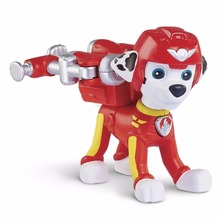 OPP BAG!!! 7 Style Puppy Patrol  Dog Anime Action Figure Toy Ryder Everest Robot  Skye Chase Zuma Model awed Toy with helmet