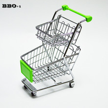1Sets Hotel Restaurant Coffee Shop Food Basket Creative Fries Rack Bread Basket Fried Chicken Basket Mini Trolley Double Layer(China)